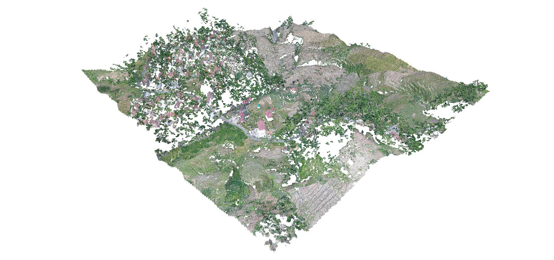 Sample Point Cloud Jasa Pemetaan Foto Udara Drone Bogor Sky