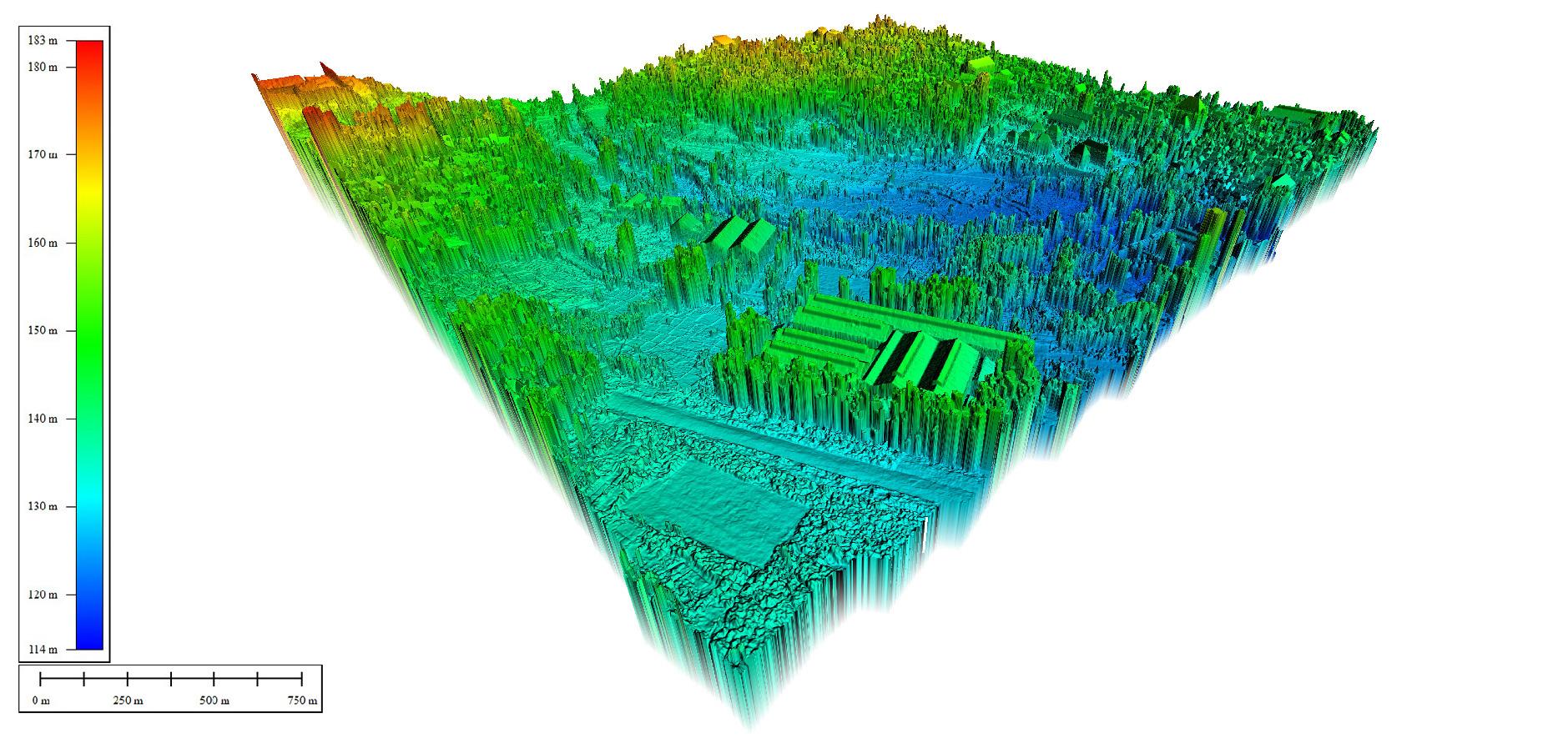 Sample Digital Surface Model Jasa Pemetaan Foto Udara Drone Bogor Sky