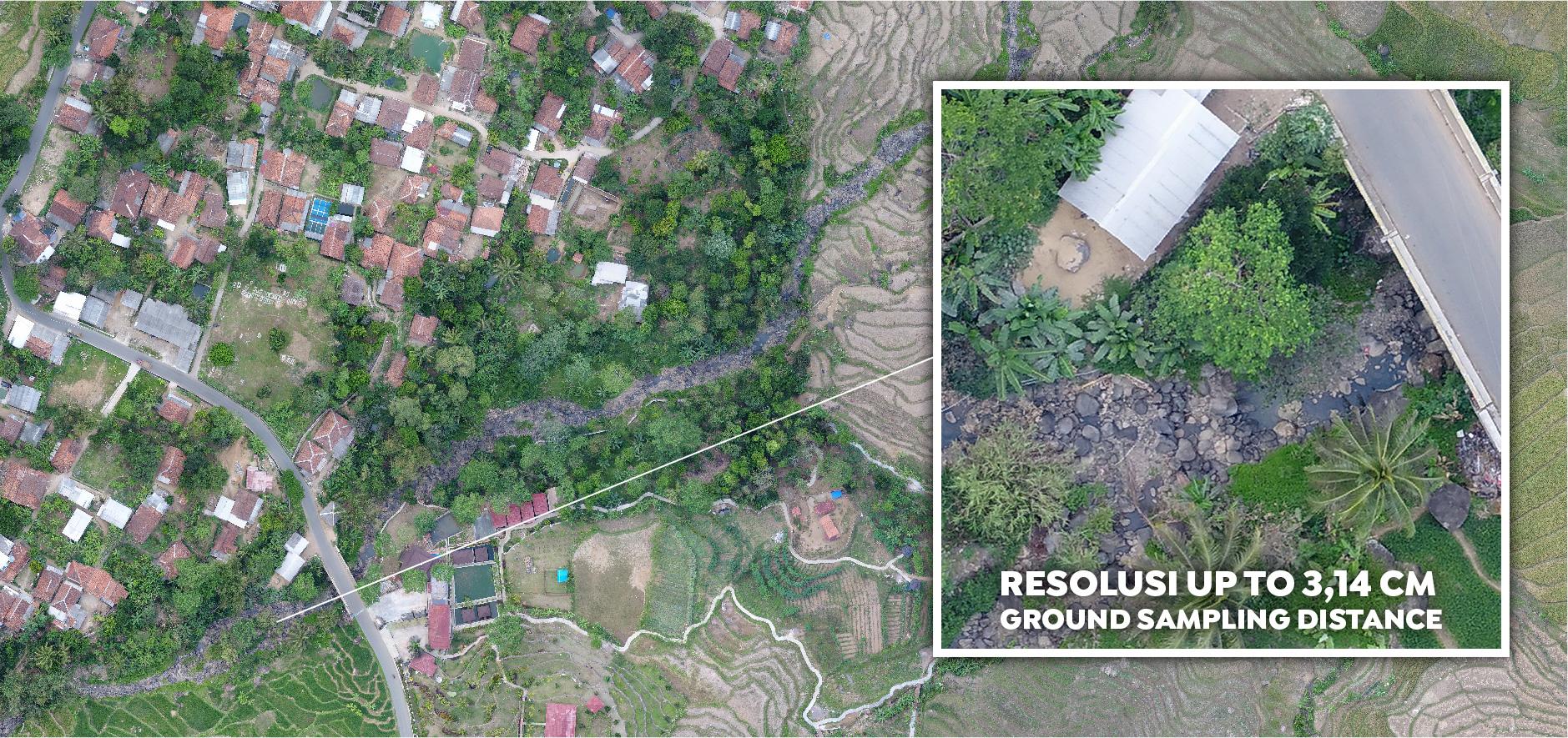 Sample Orthophoto Jasa Pemetaan Foto Udara Drone Bogor Sky
